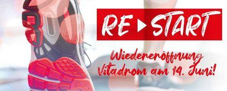 RESTART im Vitadrom ab 14.6.: Gerätebereich innen öffnet wieder!