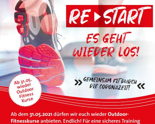 Restart der Outdoor Fitness Kurse des Vitadroms ab 31.05.2021