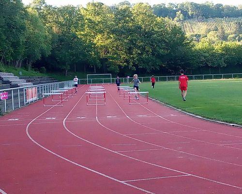 Leichtathletik trainiert