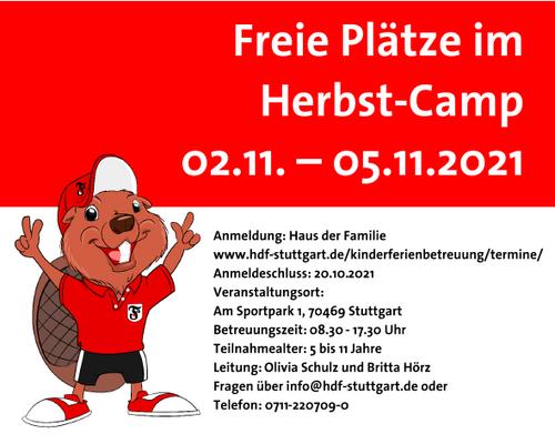 FREIE PLÄTZE IM HERBST-CAMP