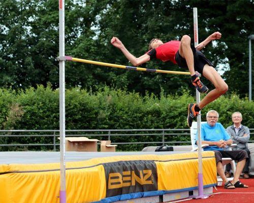Marlon Gräfe mit Goldmedaille beim Hochsprung